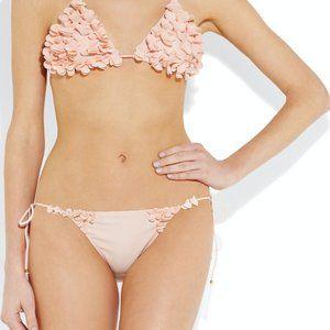 Miu Miu Floralappliqué Triangle Bikini Top